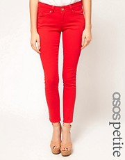 ASOS PETITE Skinny Jeans In Dazzling Red #4