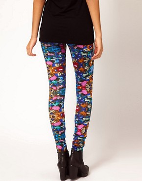 Image 2 ofASOS Leggings with Jewel Print