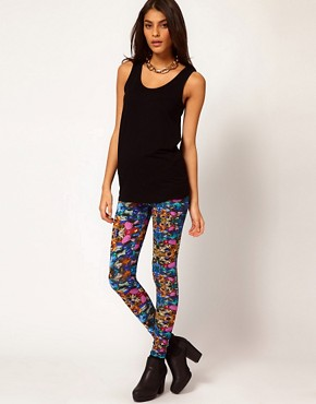Image 1 ofASOS Leggings with Jewel Print