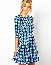 ASOS Skater Dress In Geometric Print