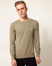 Fred Perry Laurel Wreath Jumper with Envelope Neck