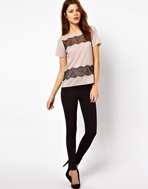 Image 4 ofWarehouse Lace Stripe T-Shirt