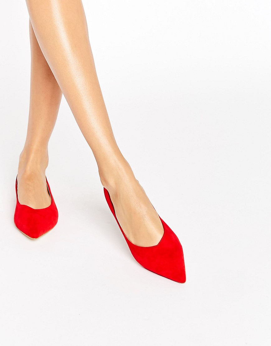 raid-agatha-chaussures-plates-a-bout-pointu-rouge-rouge
