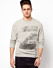 ASOS Sweatshirt With Monochrome Print