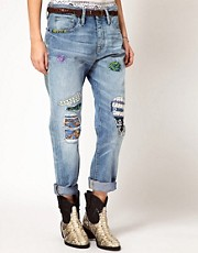 Denim &amp; Supply By Ralph Lauren Patched Boyfirend Jeans