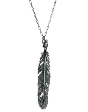 Image 4 ofBorn Macabre Feather Necklace