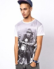Camiseta con estampado Hells Angels de Worn By