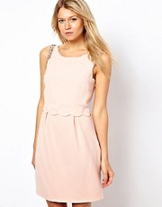 Oasis Layered Dress With Embellished Shoulder