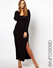 ASOS CURVE Exclusive Maxi Dress with Thigh Split