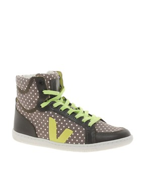 Image 1 ofVeja x Domino SPMA Polka Dot Brown High Top Trainers