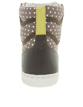 Image 2 ofVeja x Domino SPMA Polka Dot Brown High Top Trainers