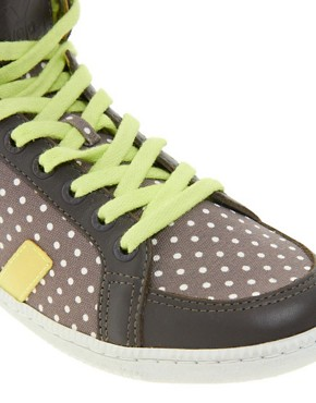 Image 3 ofVeja x Domino SPMA Polka Dot Brown High Top Trainers