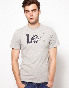 Image 1 ofLee Logo T-Shirt With Crew Neck