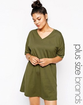 Alice & You Plain T-Shirt Dress With Kimono Sleeve