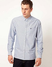 Fred Perry Shirt in Paisley Printed Oxford Shirt