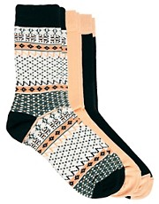 ASOS 3 Pack Fairisle Socks