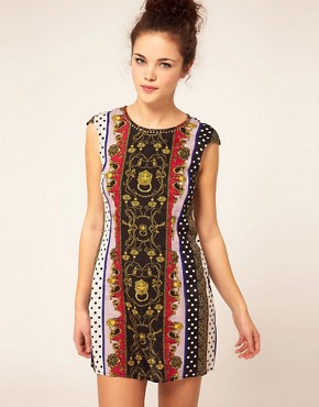 Image 1 ofRiver Island Scarf Print Dress