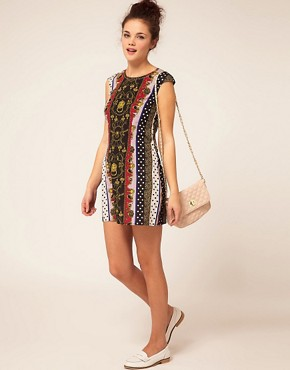 Image 4 ofRiver Island Scarf Print Dress