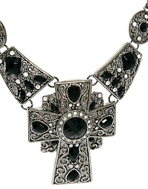 Image 4 ofLove Rocks Statement Cross Necklace