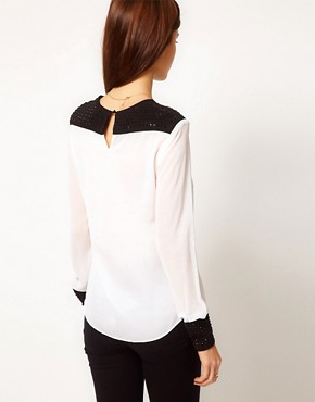 Image 2 of Warehouse Studded Shell Top