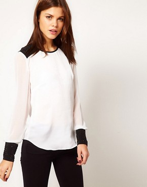 Image 1 of Warehouse Studded Shell Top