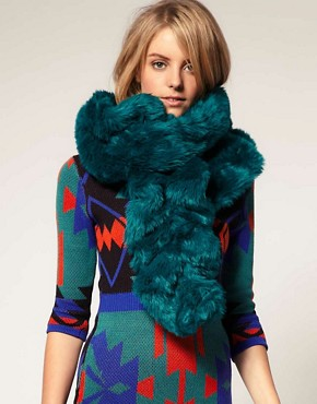 Image 1 ofASOS Premium Long Faux Fur Scarf