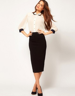 Image 1 ofASOS Bengaline Pencil Skirt