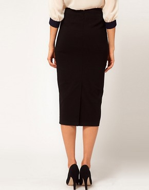 Image 2 ofASOS Bengaline Pencil Skirt