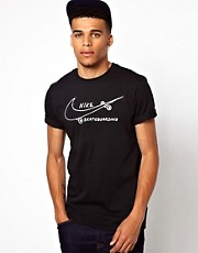 Nike Skateboarding T-Shirt with Skateboard Swoosh