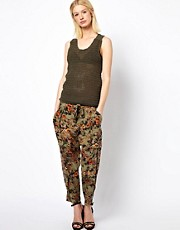 Edun Cargo Pants in Etched Poppies Print