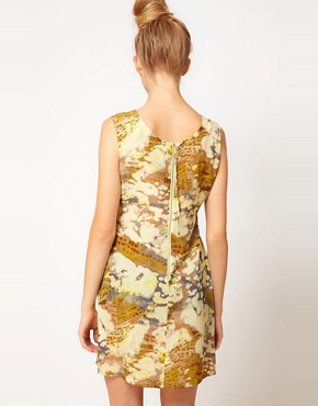 Image 2 ofFiretrap Jinna Feather Print Dress