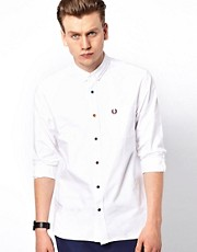 Fred Perry Oxford Shirt with Multi Coloured Buttons