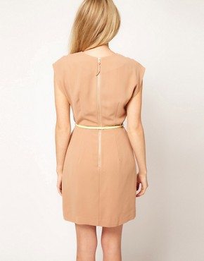 Image 2 ofOasis Wrap Shift Dress With Belt
