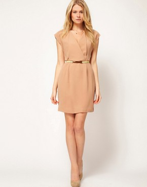 Image 4 ofOasis Wrap Shift Dress With Belt