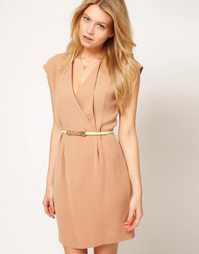 Image 1 ofOasis Wrap Shift Dress With Belt