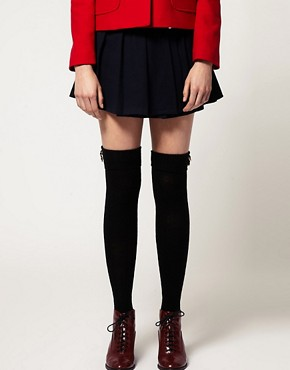 Image 1 ofASOS Button Detail Over The Knee Socks