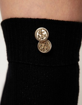 Image 3 ofASOS Button Detail Over The Knee Socks