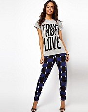 ASOS Peg Pants in Geo Print