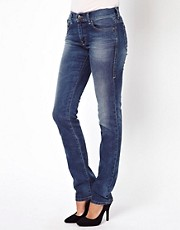 Diesel Straightzee Jean In Mid Blue Denim