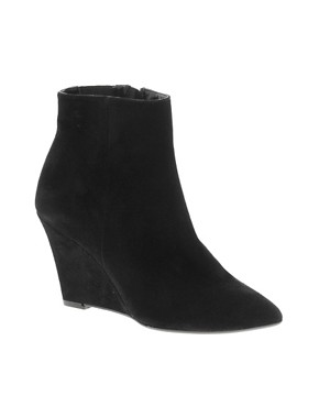 Image 1 ofDune Navern Pointed Wedge Ankle Boots