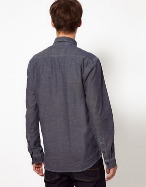 Image 2 ofSelected Denim Pocket Shirt