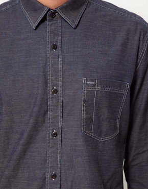 Image 3 ofSelected Denim Pocket Shirt