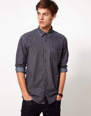 Image 1 ofSelected Denim Pocket Shirt