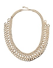 Pieces Mille Chunky Chain Short Necklace