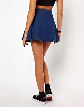 Image 2 ofAmerican Apparel Denim Circle Skirt