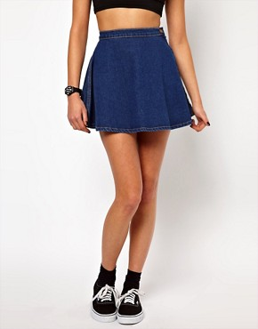 Image 4 ofAmerican Apparel Denim Circle Skirt