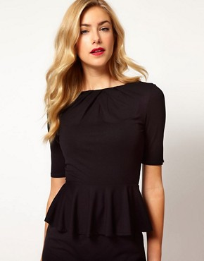 Image 1 ofKaren Millen Peplum T-shirt