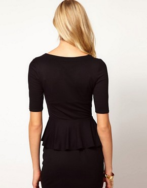Image 2 ofKaren Millen Peplum T-shirt