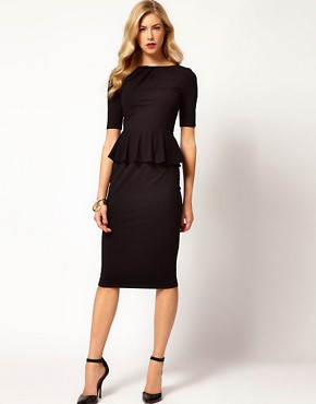 Image 4 ofKaren Millen Peplum T-shirt