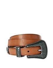 Pieces Molly Metal Tipped Skinny Belt